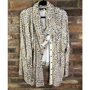 Free People leopard sweater